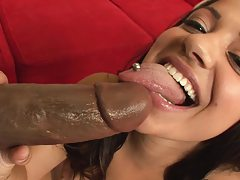 Huge freaky black cock rips this nympho to pieces