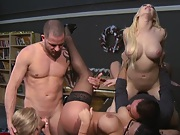 College sluts fucked by the classrooms black board