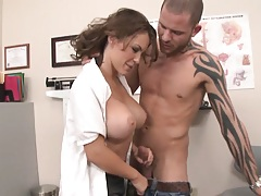 After the a doctor gets her patient on his feet he fucks her