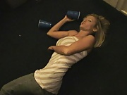 chick passes out on the floor from too many drinks