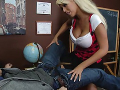 Bridgette with her big ass tits in the classroom