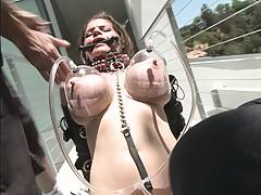 Milf with big tits gets pussy and tits vacum pumped
