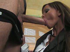 Big dick blowjob and pulled aside panties fucking Christine Roberts