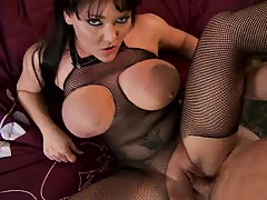 Clair Dames touches her own big its while penetrated
