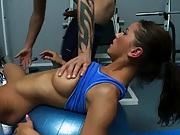 Angel hired a person trainer who she uses for other