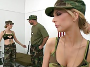 Hot and Mean Jessie and Jana in the army