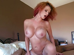 Huge black cock gets a fuck from busty milf