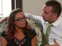 Busty teacher Danni and naughty principal