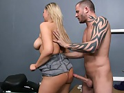 Abbey gets doggy pounded from behind