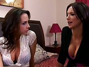 Big tits pornstars Having a chat