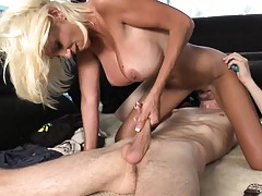 Bangbus driving around and big tits Puma on cock