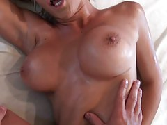 Sideways fucking Lexi Swallow and ass licking