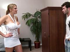 Big tits investment broker Alanah Rae punished for