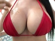 Emmanuelle London showing off her scrumptious hot tits