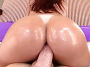 Anal cowgirl and cumshot on Tiffany Mynx ass