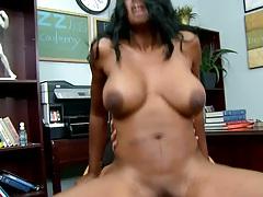 Big tits milf Nyomi having sex with sons principal