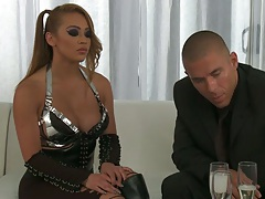 Asian hottie Mia Lelani proceeds to deep throat and blowjob