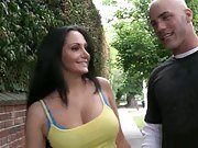 Milf soup busty babe Ava Adams outdoors