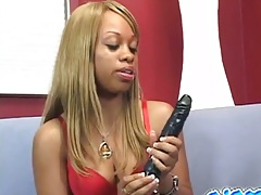 Ebony natural tits babes Anabelle in black lesbian scene