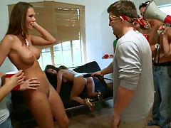 Group party sex in college with Diamond Kitty and Jennifer Dark