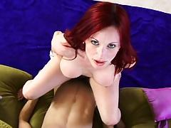 Neesa a redhead beauty sitting on cock and deep fuck with amoan