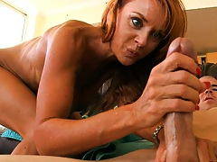 Janet Mason moaning and screaming whil fucked