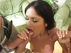 Group gang bang blowjob with Sarah Twain getting holes filled