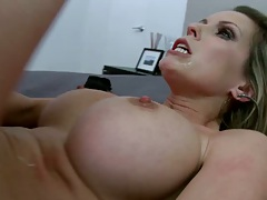 Busty bitch fucked anal and then anal cowgirl