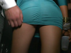 VIP party with upskirts and panty view