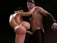 Sweat ass sideways rammed and then tits on penis