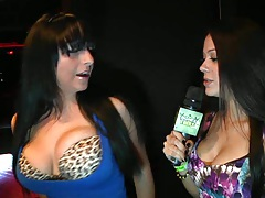 Money talks with sexy babes showing their igoods