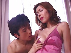 Asian lingerie make out session and loving