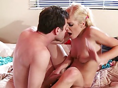 Natural tits handjob and fucking with Carmen Monet