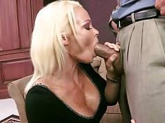 Blonde milf Rhylee Richards blowjob and fuck